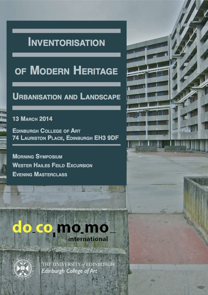 Recognition And Documentation Of Modern Movement Landscapes In Asia